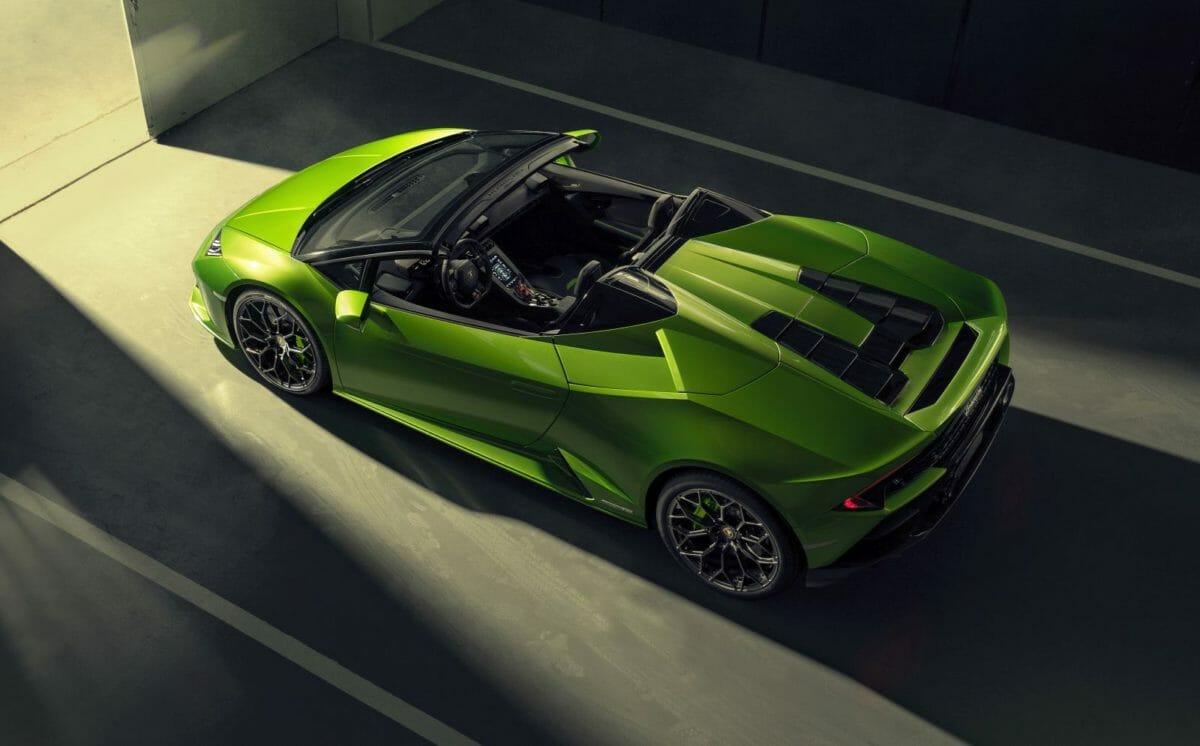 Lamborghini Huracan EVO Spyder top open