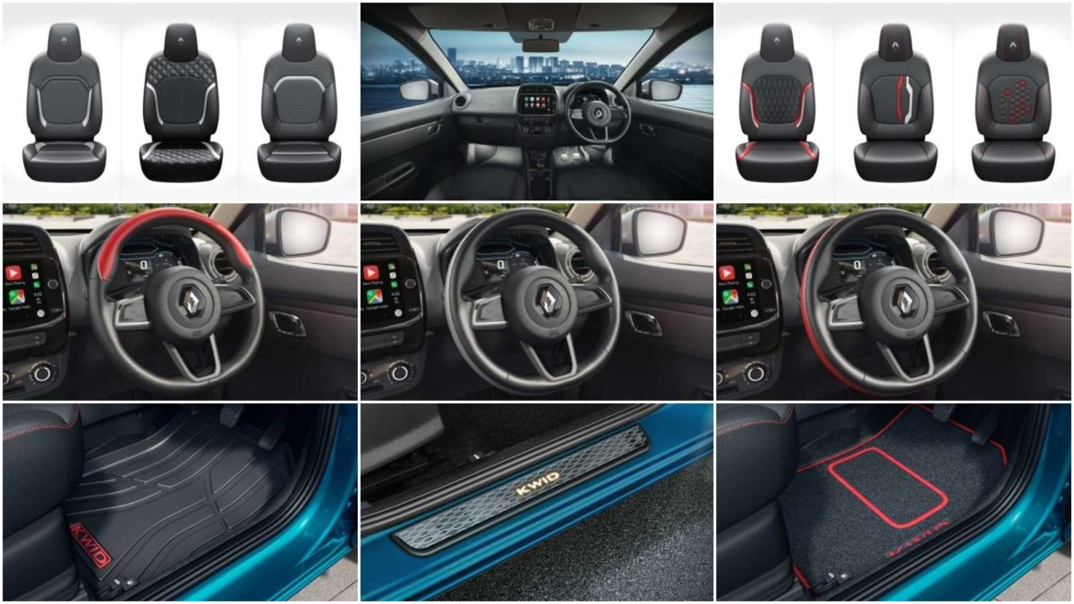 upholstery, steering and mat accessories for the new kwid