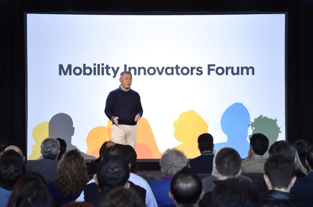 Hyundai At the Mobility Innovators Forum stage