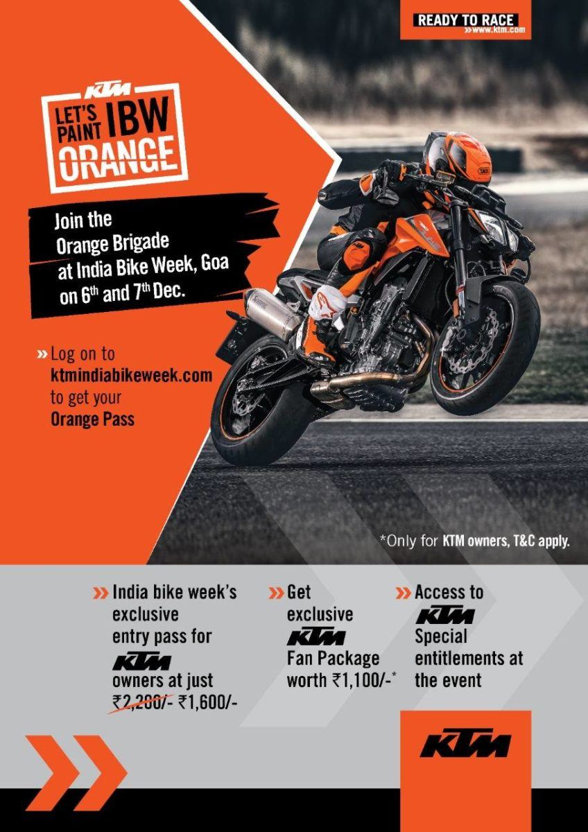 KTM COMES TO INDIA BIKE WEEK