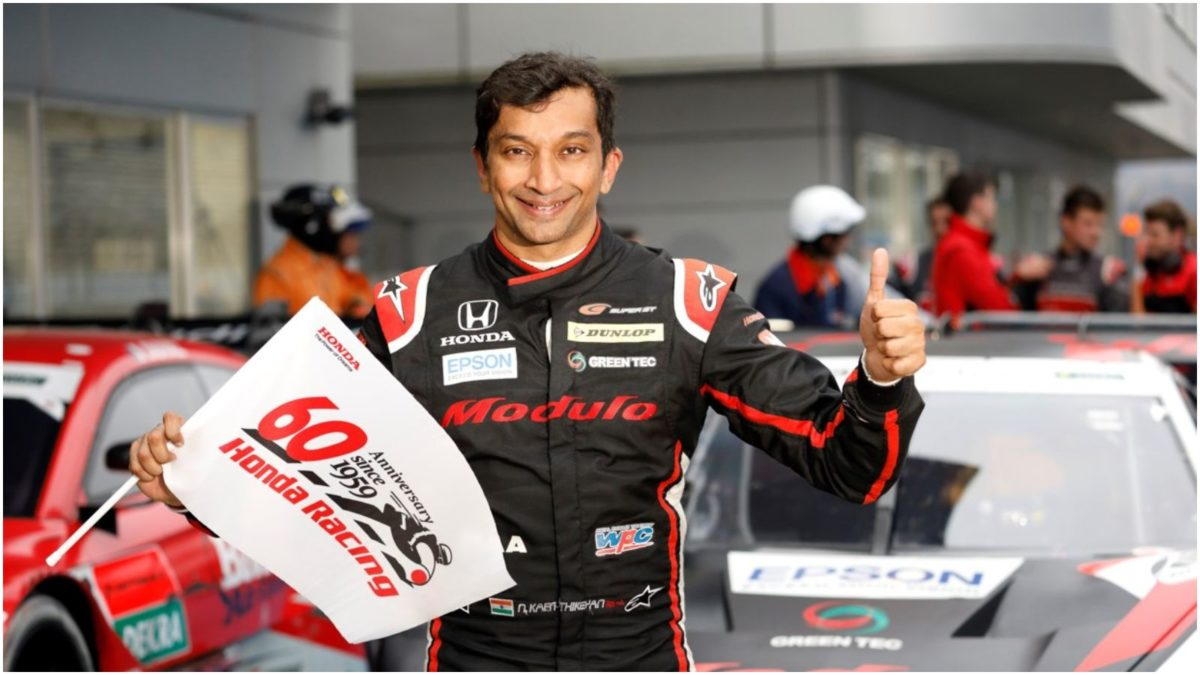 Narain Karthikeyan wins the Super GT X DTM 2