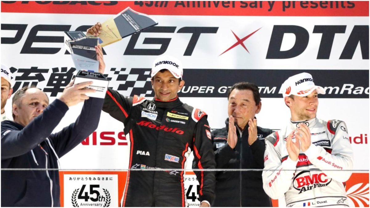 Narain Karthikeyan wins the Super GT X DTM 3