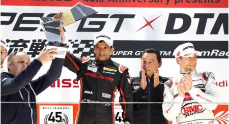 Narain Karthikeyan wins the Super GT X DTM 3