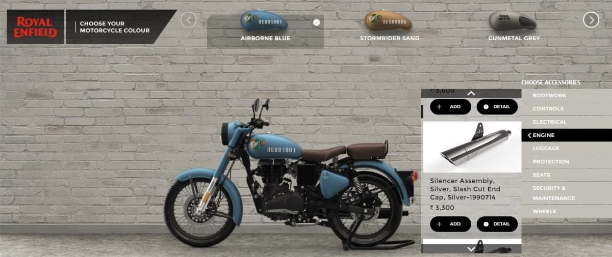 Royal Enfield Classic 350 Exhaust options