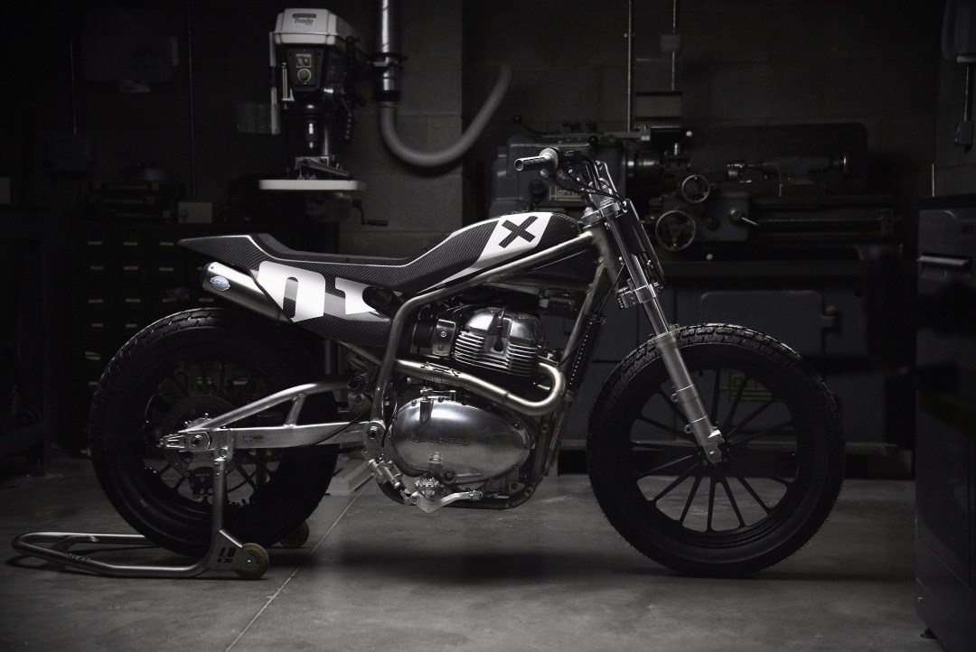 Royal Enfield Flat Track in profile