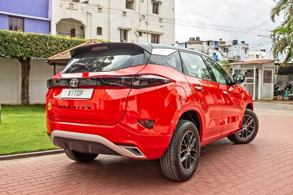 Tata Harrier Red Rear