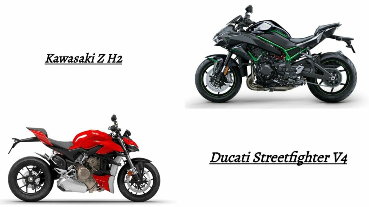 comparo ducati streetfighter v4 vs Z h2