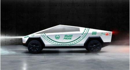 dubai police Tesla Cybertruck