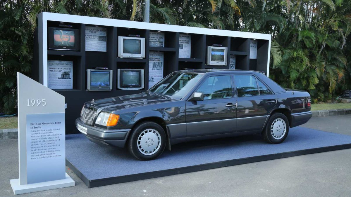 mercedes benz 25 years in india 1