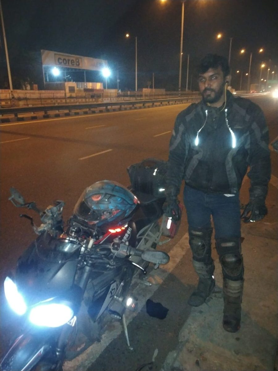 Fastest Golden Quadrilateral Ride By Souvik Sarkar on His Triumph Street Triple RS (2)