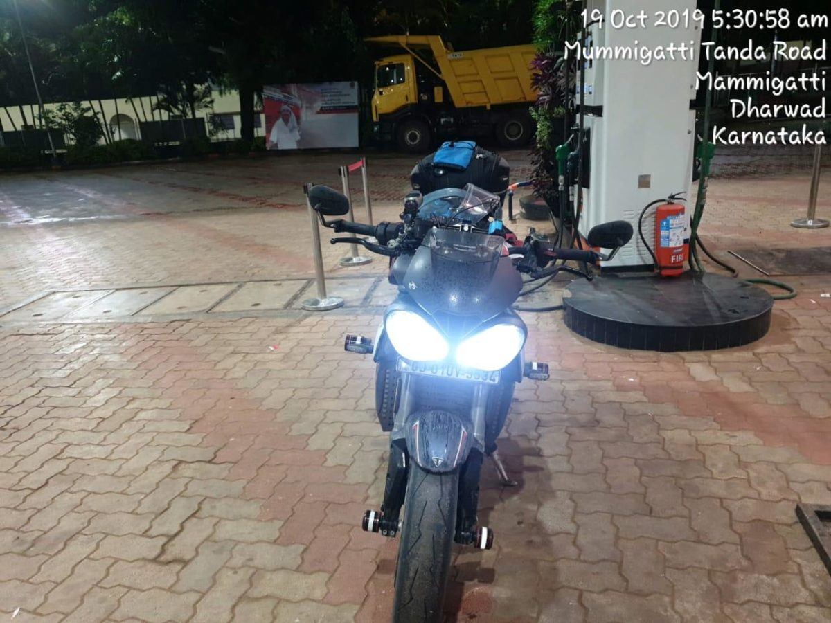 Fastest Golden Quadrilateral Ride By Souvik Sarkar on His Triumph Street Triple RS (6)