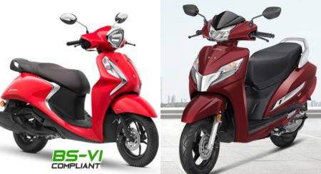 Honda Activa 126 BS6 vs Yamaha Fascino 125 BS6