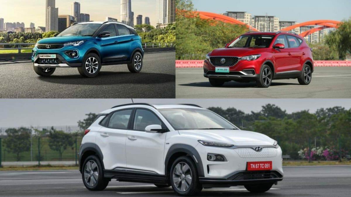 Hyundai Kona vs Tata Nexon EV vs MG ZS Ev