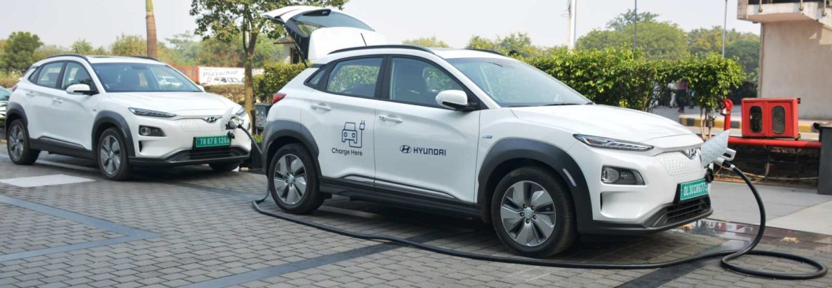 KONA Electric – Industry first Vehicle to Vehicle (V2V)charging facility