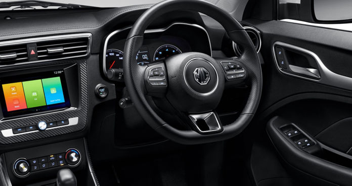 MG ZS EV interiors