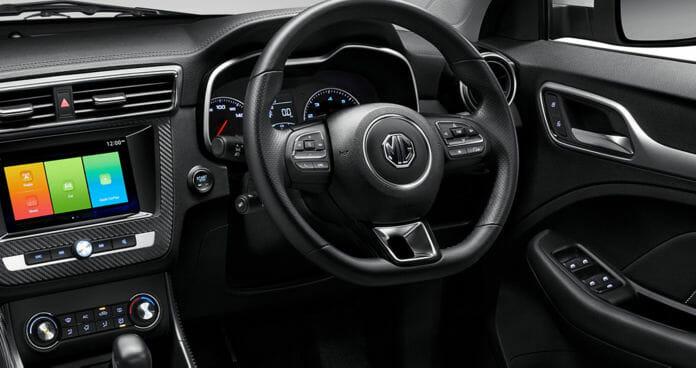 MG ZS EV interiors
