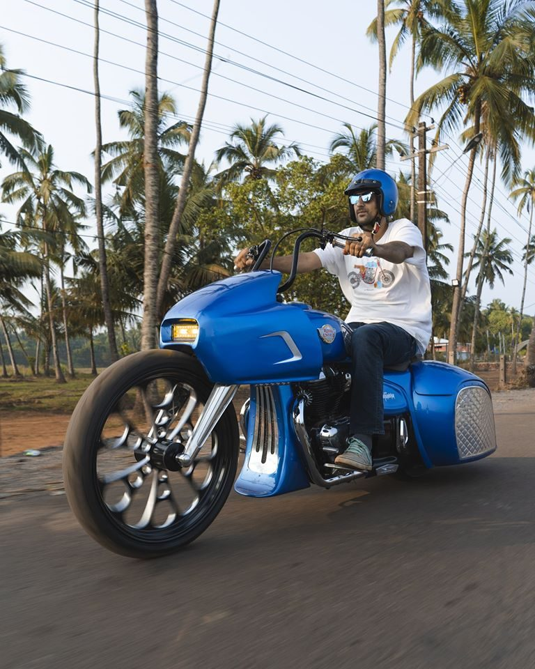 Royal Enfield 650 Bagger By TNT Customs Front