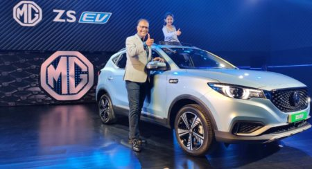 mg zs ev india unveil 2