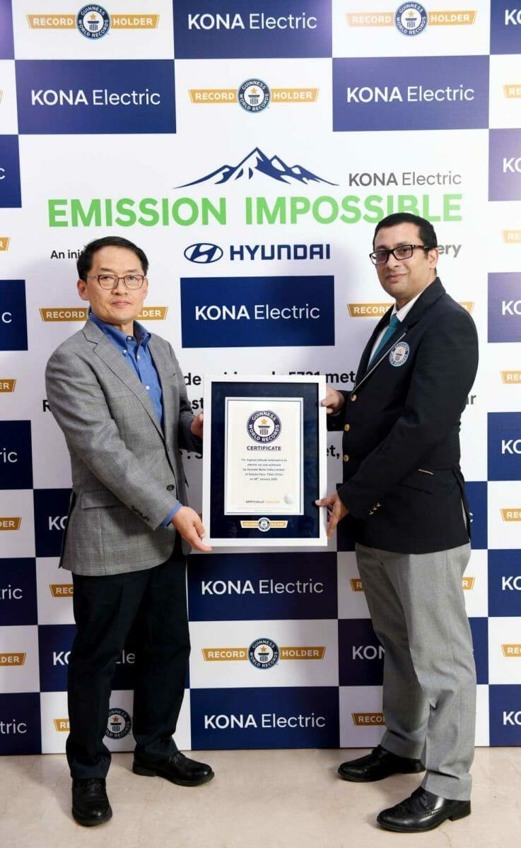 Hyundai Kona Electric Guinness Word Record (1)