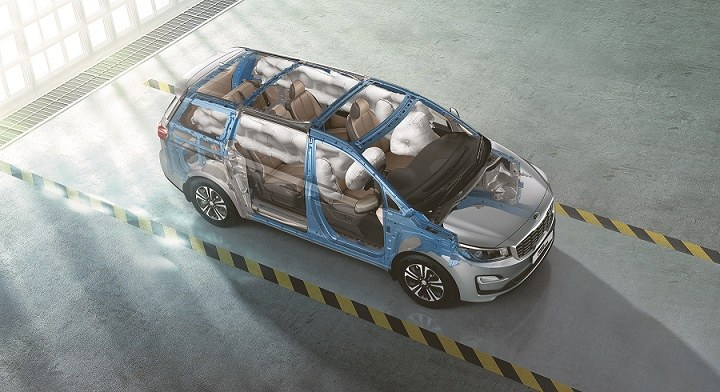 Kia Carnival India Airbags and Steel Structure