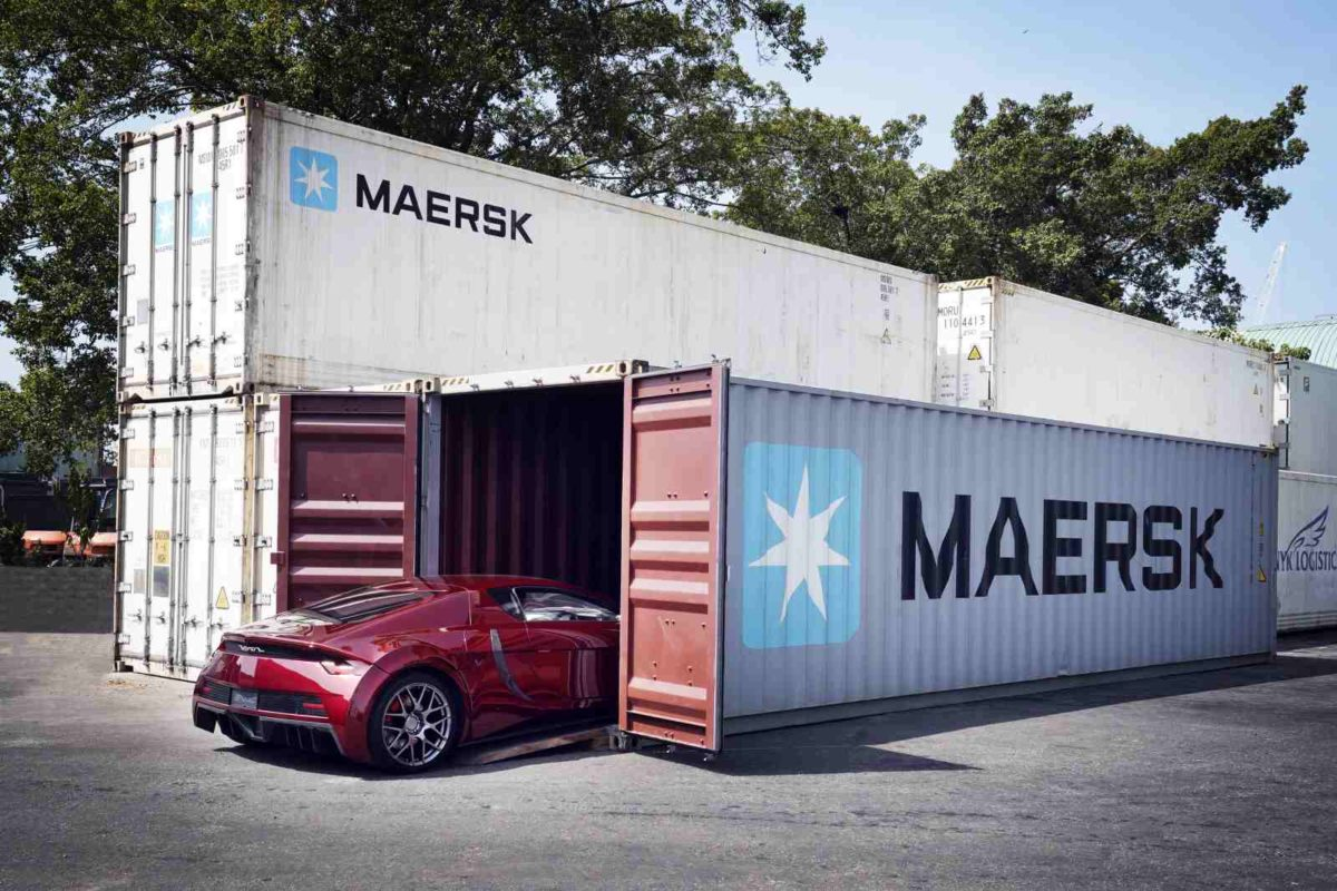Loading of Vega Supercar into Maersk Container