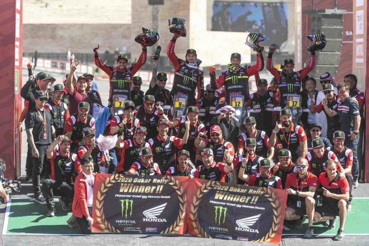 Monster Energy Honda Team wins Dakar Rally 2020