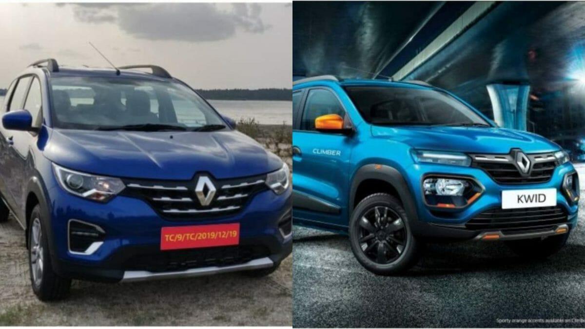 Renault Triber and Kwid BS6