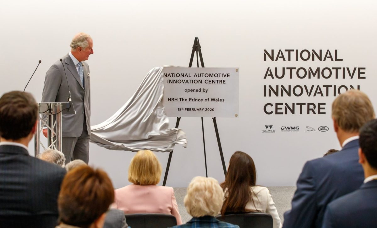 HRH The Prince of Wales unveils plaque of the National Automotive Innovation Centre (NAIC)