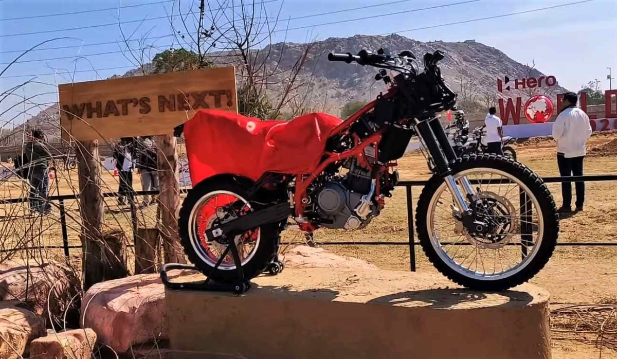 Hero Motocorp Mid capacity Adventure Motorcycle Prototype
