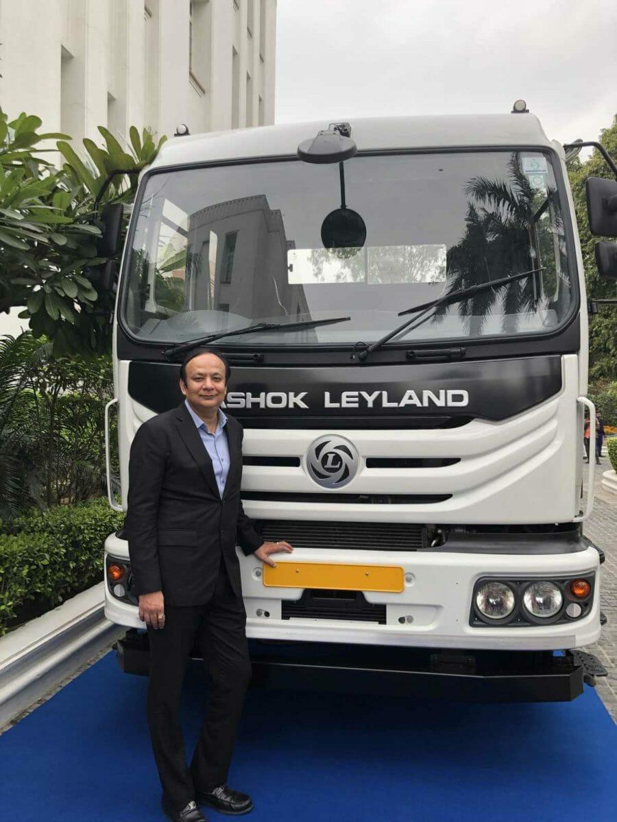 Mr Anuj Kathuria, COO, Ashok Leyland with Modular Platform designed Vehicle 21st February 2020