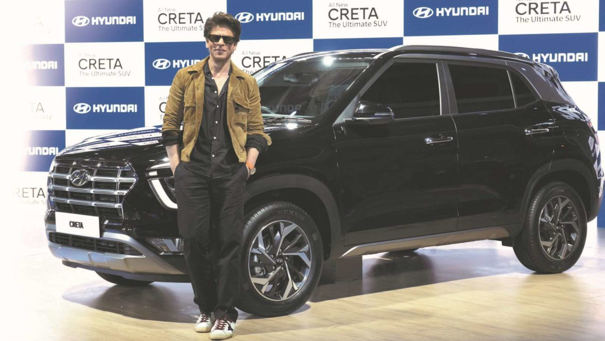 Shahrukh Khan With the new Hyundai Creta