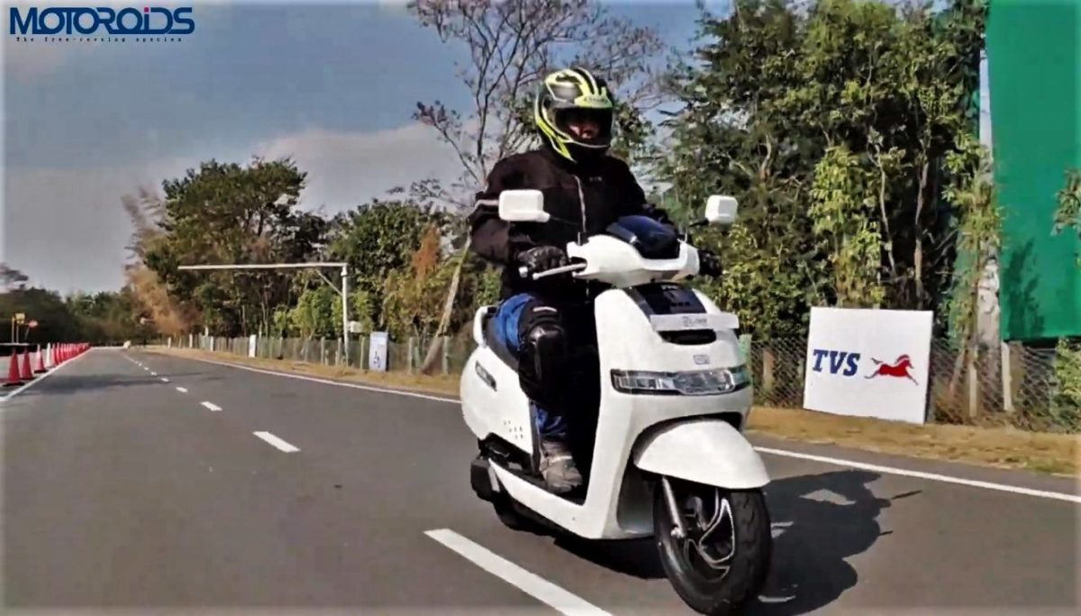 TVS iQube electric scooter review rolling