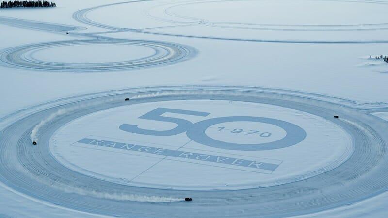 Range Rover celebrates 50th anniversary with classy snow art