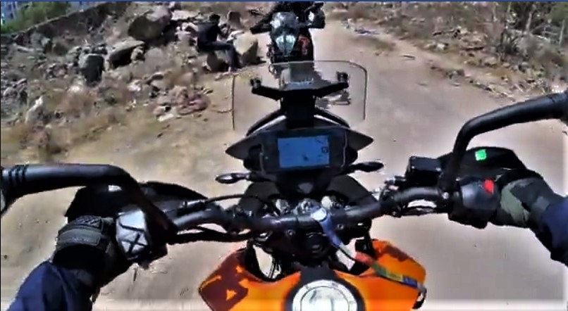 KTM Adventure 390 Crash