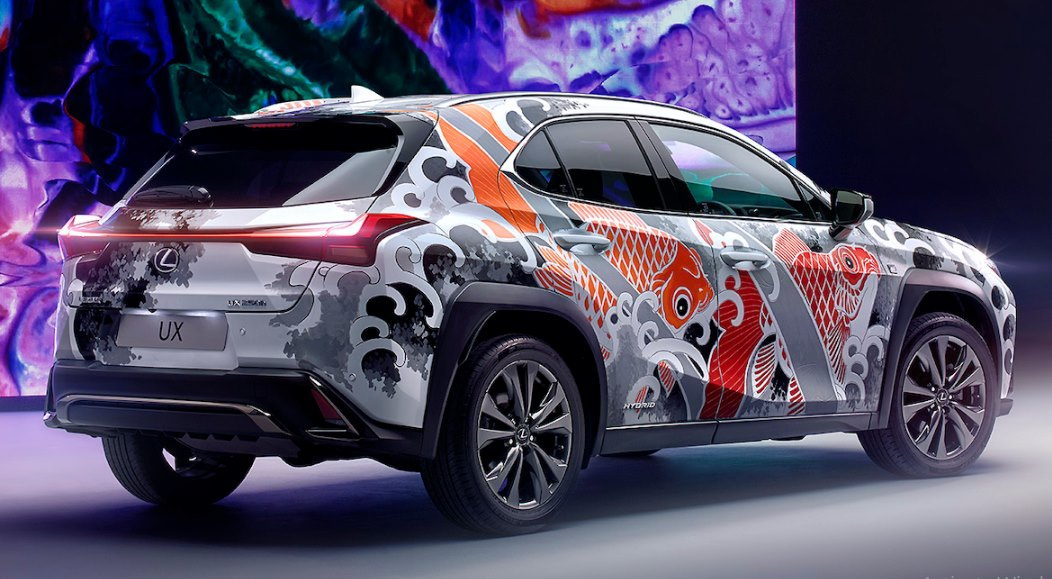 This Inked Lexus UX Is The World's First Tattooed Car | Motoroids