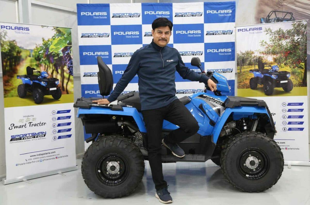 Mr. Pankaj Dubey, MD & Country Head, Polaris India with Polaris Sportsman 570 Tractor (2)