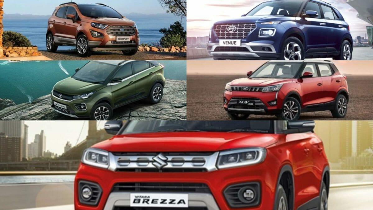 Nexon petrol vs Vitara Brezza petrol vs Ecosport petrol vs Venue petrol vs XUV300 petrol