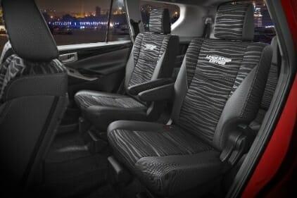 Toyota Innova Crysta Leadership Edition upholstery