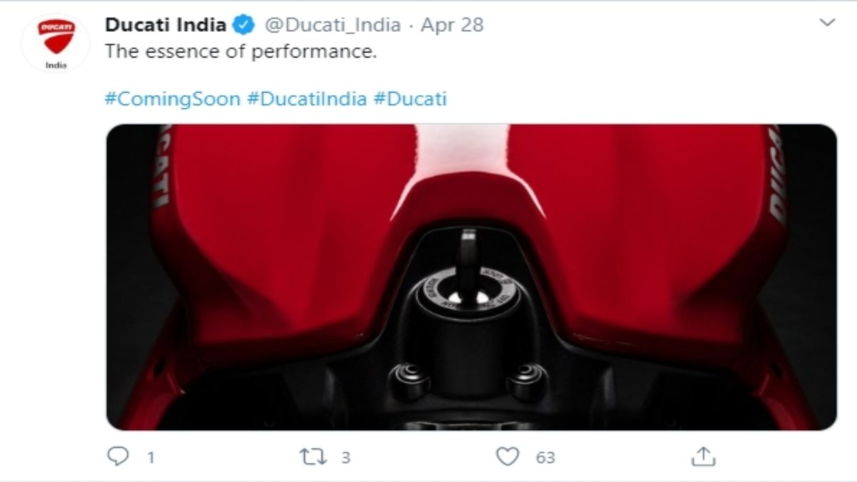 Ducati Panigale V2 teased 1