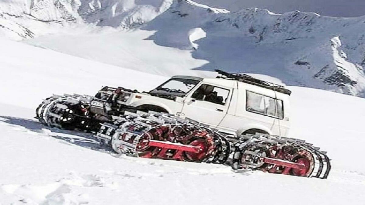 Maruti Gypsy Snowmobile
