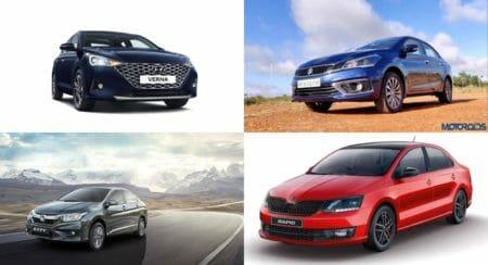 New Hyundai Verna vs Honda City vs Maruti Ciaz Vs Skoda Rapid