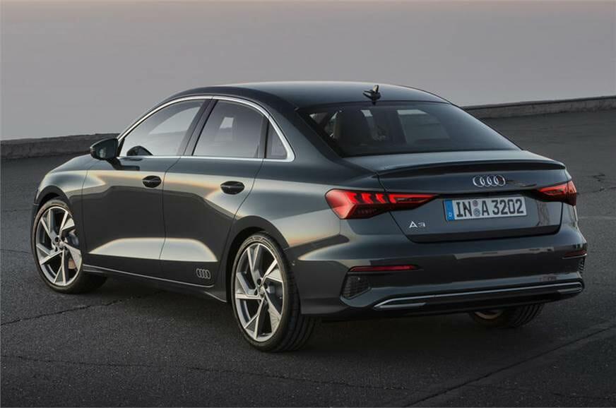 new Audi A3 sedan rear