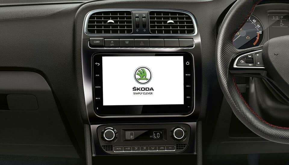 2020 Skoda Rapid Interiors and touchscreen
