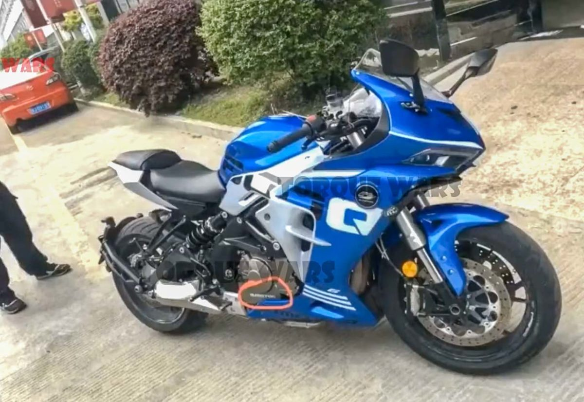2020 benelli 600rr fully faired spied 3
