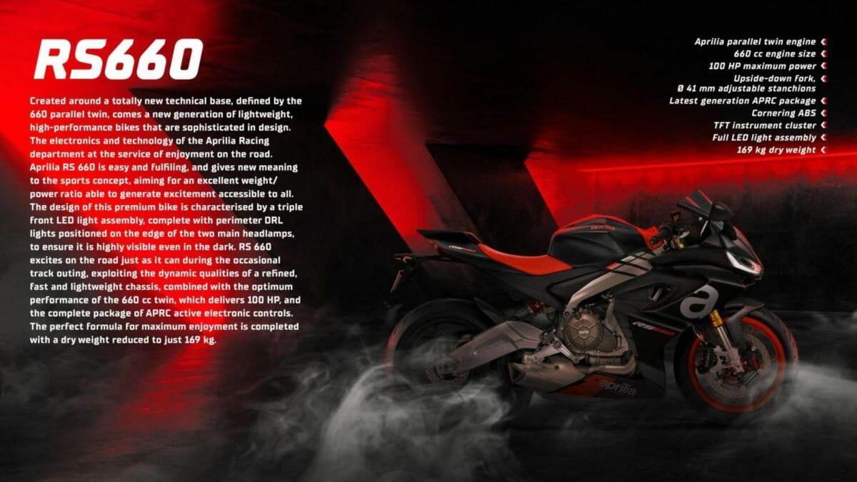 Aprilia RS 660 brochure