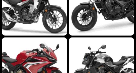 Honda 500cc motorcycles collage