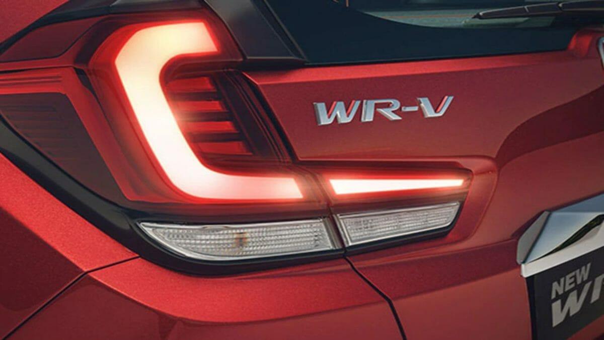 Honda WRV facelift rear