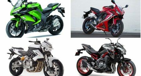 In-line 4-cylinder bikes