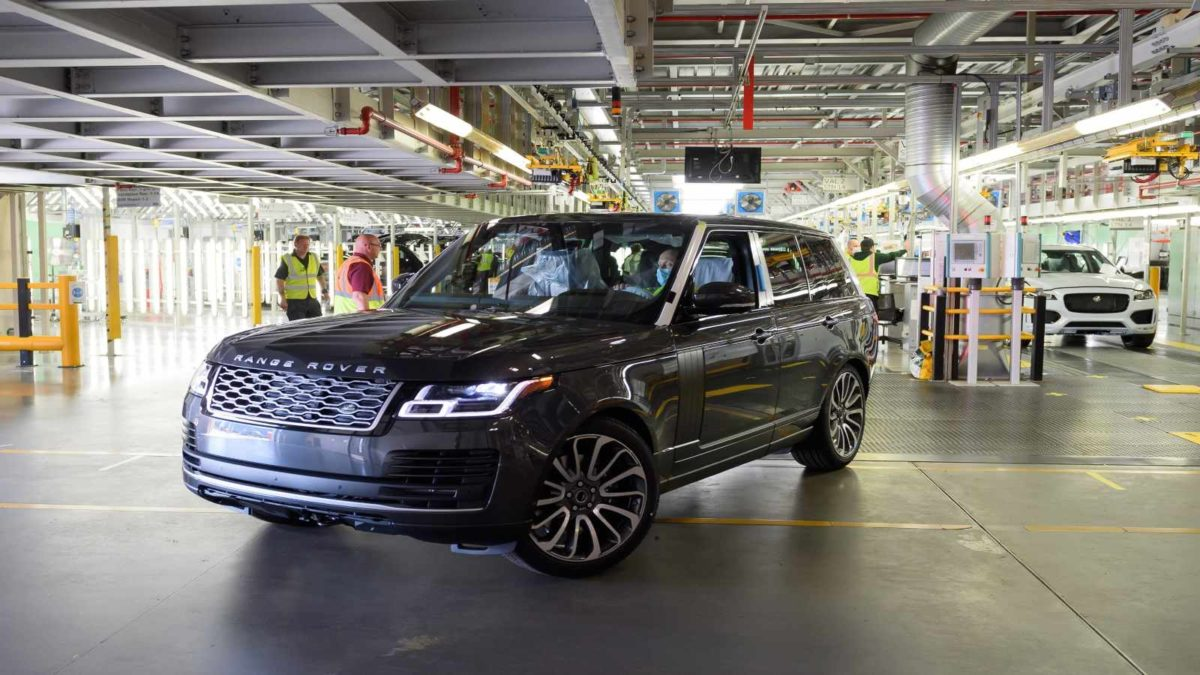 Jaguar Land Rover Production Resumes