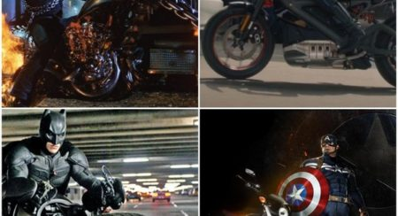 Superhero motorcycles collage